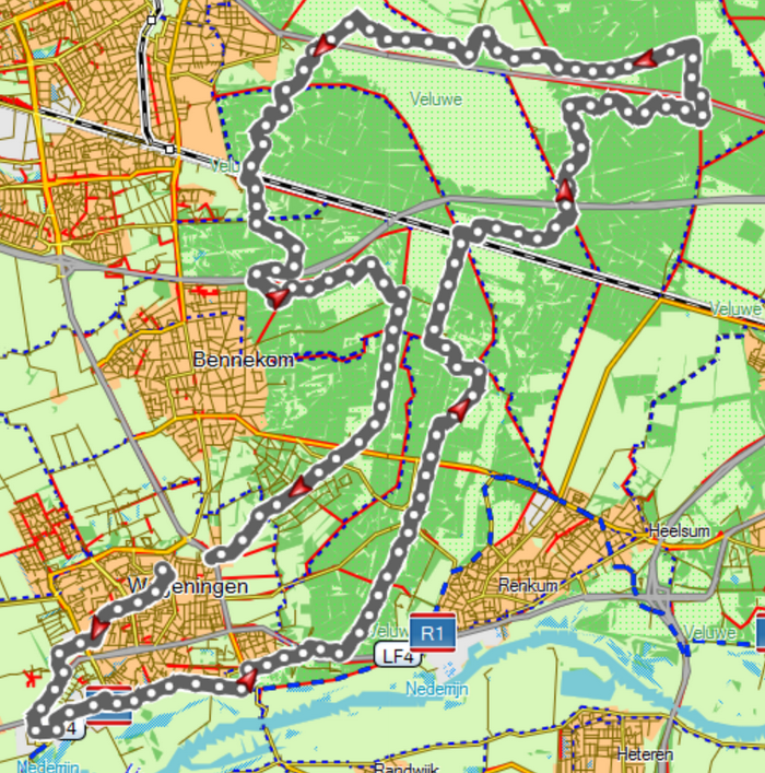 Ginkelseheide route